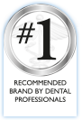 #1 recommended brand by dental professionals